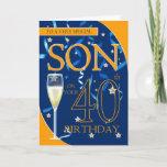 "40th Birthday Son - Champagne Glass Card<br><div class=""desc"">40th Birthday Son - Champagne Glass</div>"