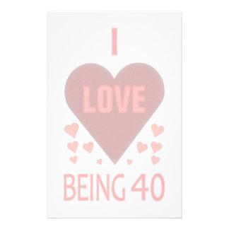 40th Birthday Stationery