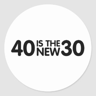 40th Birthday Round Stickers