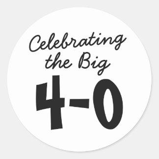 40th Birthday Stickers - Celebrating the Big 40th