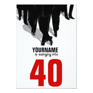 40th Birthday Swingers Rat Pack Party 5x7 Paper Invitation Card
