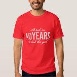 40th Birthday t shirt   Customize years
