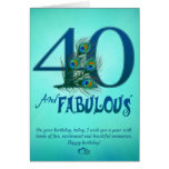 40th Birthday template Cards