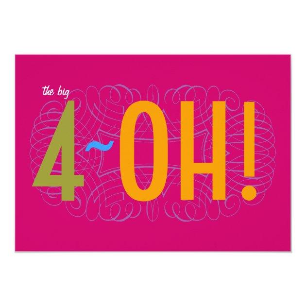 40Th Birthday Invitations for amazing invitations layout
