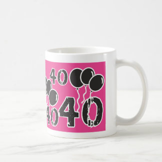 40th Birthday themed PINK BLACK Mug