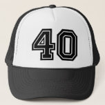 "40th Birthday Trucker Hat<br><div class=""desc"">Classic 40th Birthday Party Hat</div>"