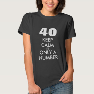 40th Birthday tshirt | Keep calm its only a number
