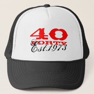 40th Birthday vintage hat | Established 1973