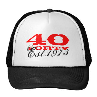 40th Birthday vintage hat   Established 1973