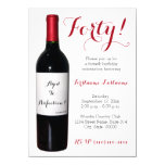 40th Birthday Wine Bottle Invitations at Zazzle