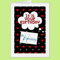 """""""40th"""" BIRTHDAY WISHES BE HAPPY U STIL CAN RIGHT? Card"""