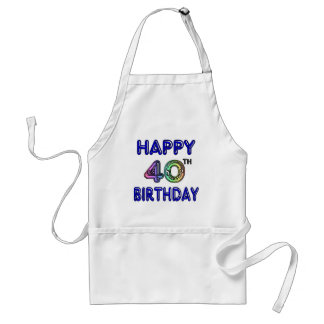 40th Birthday with Ballon Font Aprons