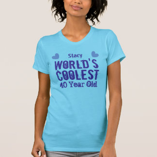 40th Birthday World's Coolest 40 Year Old V40A T-Shirt