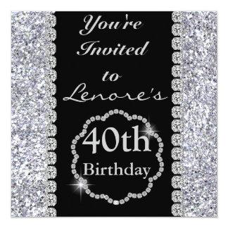 40th BLING Birthday Party Invitation