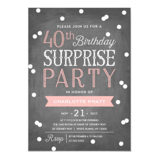 40th Birthday Party Invitations Announcements Zazzle