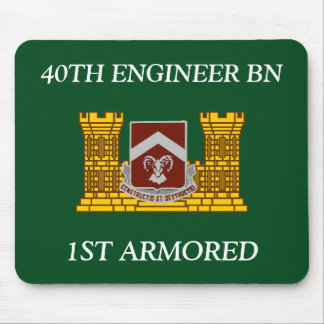 40TH ENGINEER BATTALION 1ST ARMORED MOUSEPAD