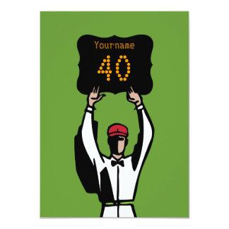 "40th Football Birthday Party Invitation - Official 4.5"" X 6.25"" Invitation Card"