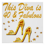 40TH GOLD SHOES POSTER