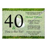 "40th Golf Birthday Party 5"" X 7"" Invitation Card"