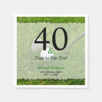 40th Golf Birthday Party Personalized Napkin