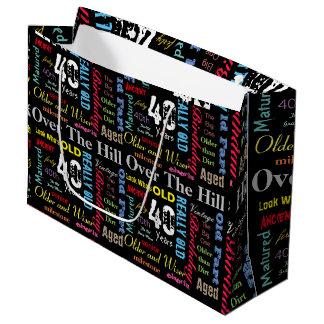 40th Happy Birthday | Milestone Large Gift Bag