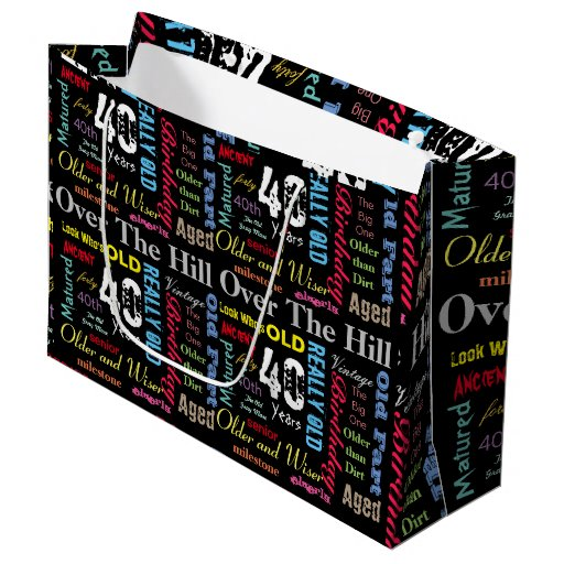 40th Happy Birthday | Milestone Large Gift Bag