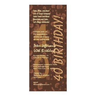40th Modern Birthday Chocolate Coffee Camo Tall Card