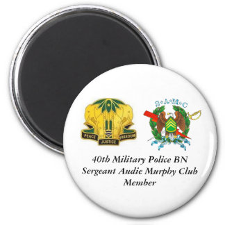 40th MP BN  Olmo, CREST[1], 40th Military Polic... 2 Inch Round Magnet