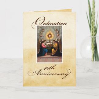 40th Ordination Anniversary Angels at Altar Card