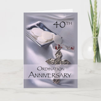 40th Ordination Anniversary Congratulations, Hosts Card