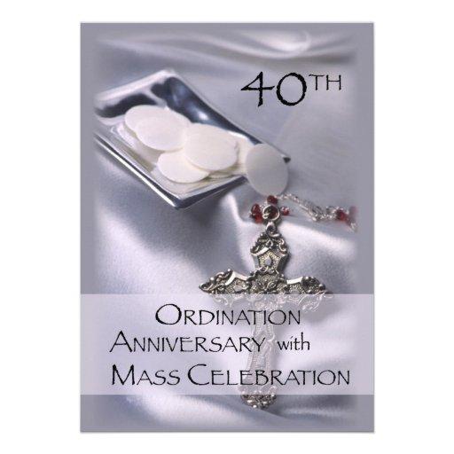 40th Ordination Anniversary Invitation 5 Quot X 7 Quot Invitation