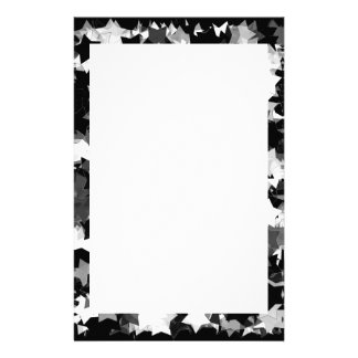 40th Party Black and White Kawaii Stars Stationery