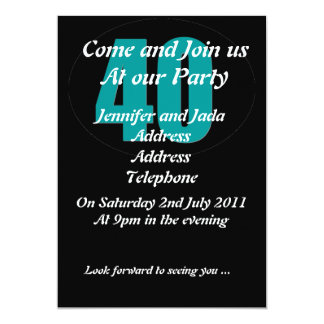 40th party invitation template