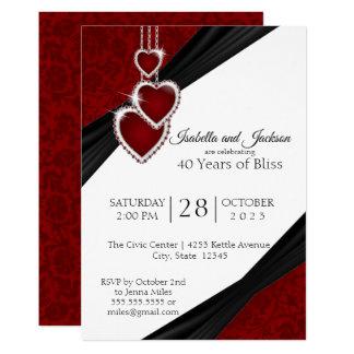 40th Ruby Anniversary Design Invitation