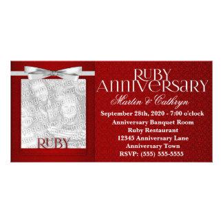 40th Ruby Anniversary Invitation Photo Card