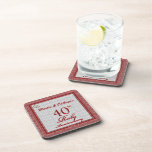40th Ruby Anniversary Personalized Coasters