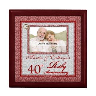 40th Ruby Anniversary Photo Jewelry Box
