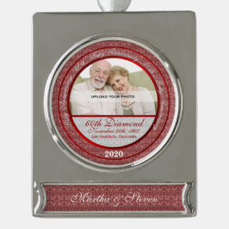 40th Ruby Anniversary | Photo Ornament