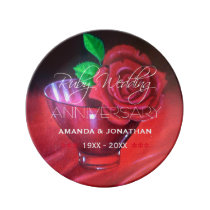 40th Ruby Wedding Anniversary Commemorative Plate