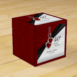 40th Ruby Wedding Anniversary Favor Box