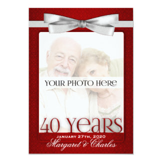 40th Ruby Wedding Anniversary Photo Invitations