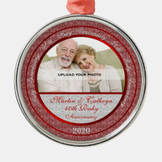 40th Ruby Wedding Anniversary | Photo Ornament