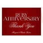 40th Ruby Wedding Annivsersary Custom Card