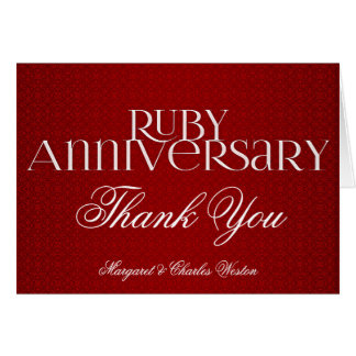 40th Ruby Wedding Annivsersary Custom Card