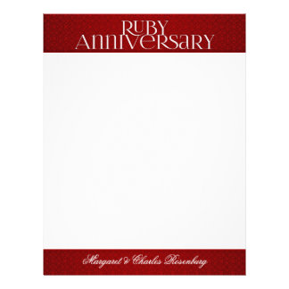 40th Ruby Wedding Annivsersary Custom Letterhead