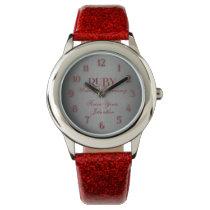 40th Ruby Wedding Annivsersary Custom Watch