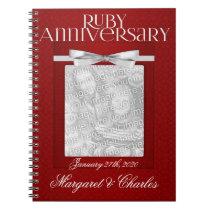 40th Ruby Wedding Annivsersary Guest Book