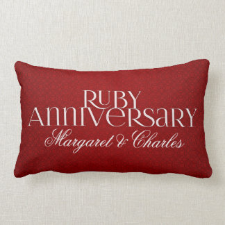 40th Ruby Wedding Annivsersary  Photo Throw Pillow