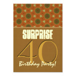 40th Surprise Birthday Earth Tones Template V02 Announcement