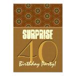 40th Surprise Birthday Earth Tones Template V02 Invitation